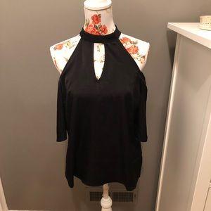 Monteau cold shoulder shirt